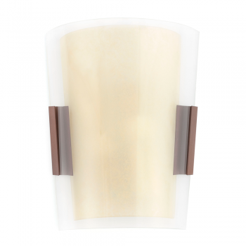 Lamp rust brown classic two 42W bulbs Eco