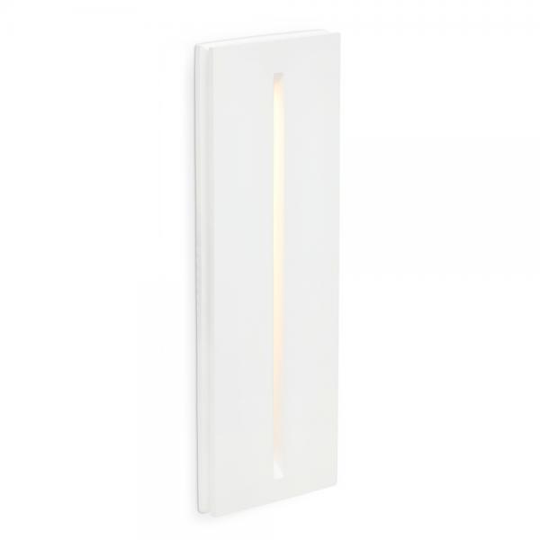 Luminaria empotrable blanca fabricada en yeso con LED de 1W cálido