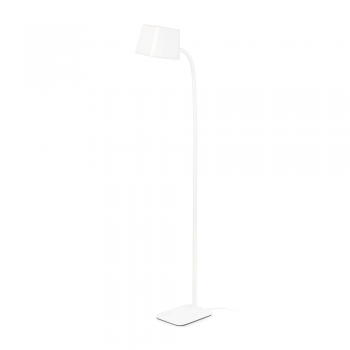 Chic lamp in white energy saving lamp 15W