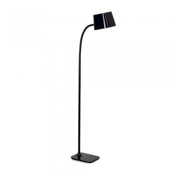 Lámpara de pie Chic en negro con portalámpara E27