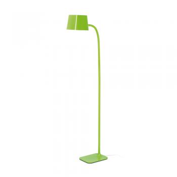 Lámpara de pie Chic en verde con portalámpara E27