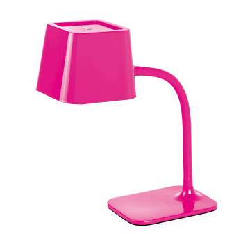 Chic in pink table lamp with 15W energy saving lamp