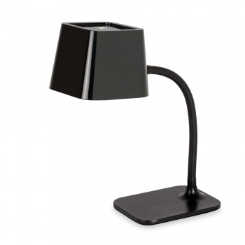 Chic in black table lamp with 15W energy saving lamp