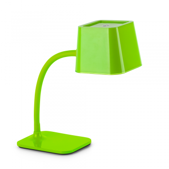 Chic table lamp in green with energy saving lamp 15W