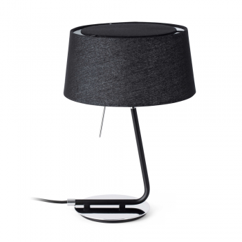 Lamp with black fabric screen in 42W bulbs