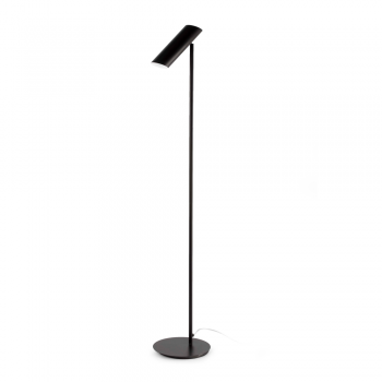 Black trendy floor lamp with 11W energy saving lamp