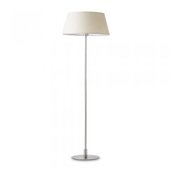 Lámpara de pie con pantalla textil beige y portalámpara E27