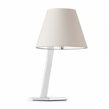 Steel table lamp with white lampshade Eco 42W bulb