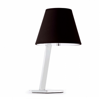 Steel table lamp in black lampshade bulb 42W Eco