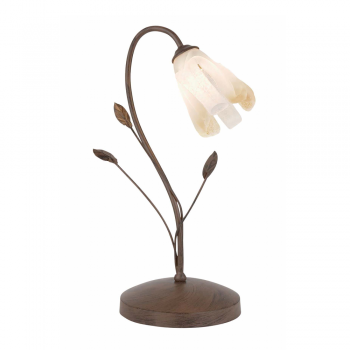Classic table lamp in metal and glass with 42w bulb aloadofball Image collections