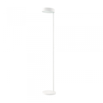 Minimal floor lamp in white light bulbs with 15W