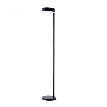 Minimal floor lamp in black with 15W light bulbs
