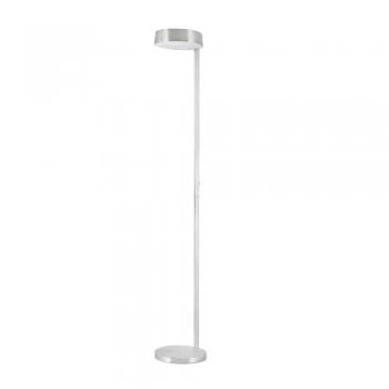 Lámpara de pie Minimal en níquel satinado