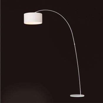 Floor lamp 2 meters tall and white lampshade bulb at 42W