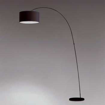 Floor lamp 2 meters tall and black lampshade bulb at 42W