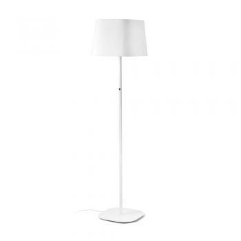 Cool floor lamp with white fabric screen in Eco 42W bulb