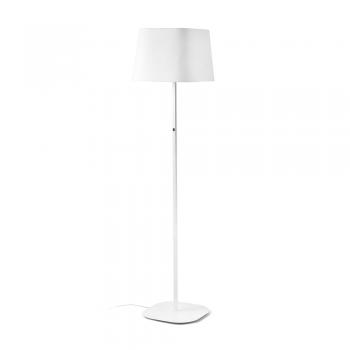 Lámpara de pie cool con pantalla textil en blanca