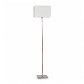 Floor lamp with white fabric screen Eco 42W bulb