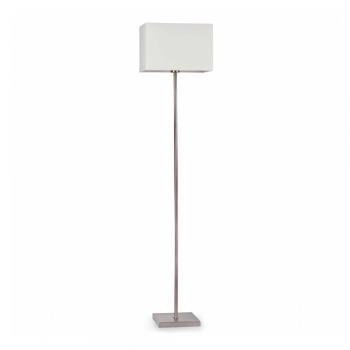 Lámpara de pie con pantalla textil blanca
