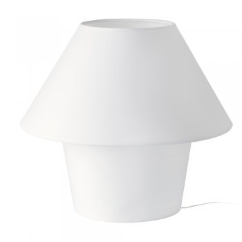 White table lamp 50 cm and made of fabric with Eco 42W bulb
