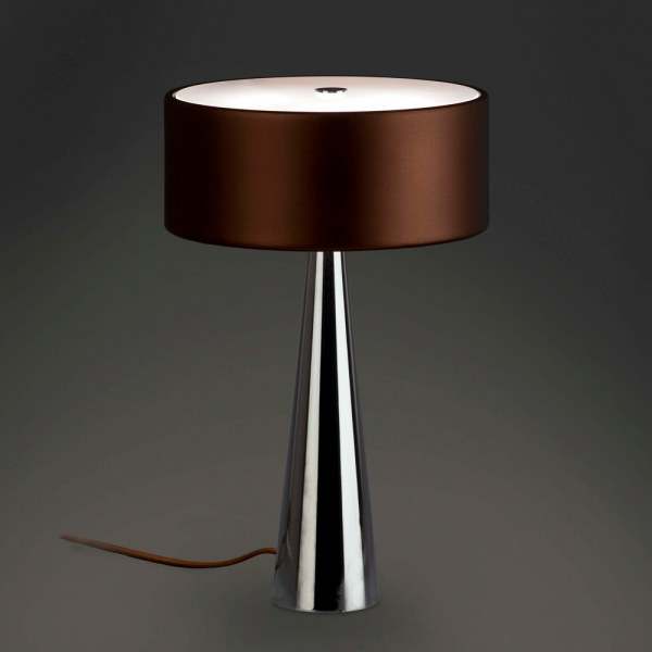 Table Lamp Flacca Cool Style In Brown With Three 28w Halogen