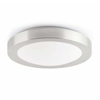Cool Ceiling nickel matte protection IP44 class II and energy saving light bulb 20W