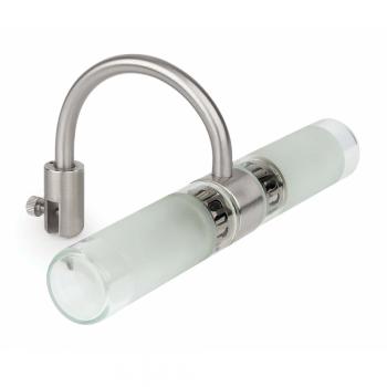 Aplique para espejo en cromo, protec. IP44 clase II