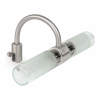 Lamp for mirror chrome, protection IP44 Class II and two 42W halogen