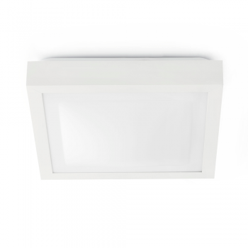 Elegan white ceiling, protection IP44 Class II and saving 20W