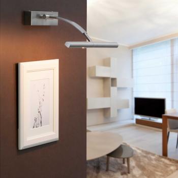 Luminaria aplique moderno en níquel mate con dos halógena de 40W