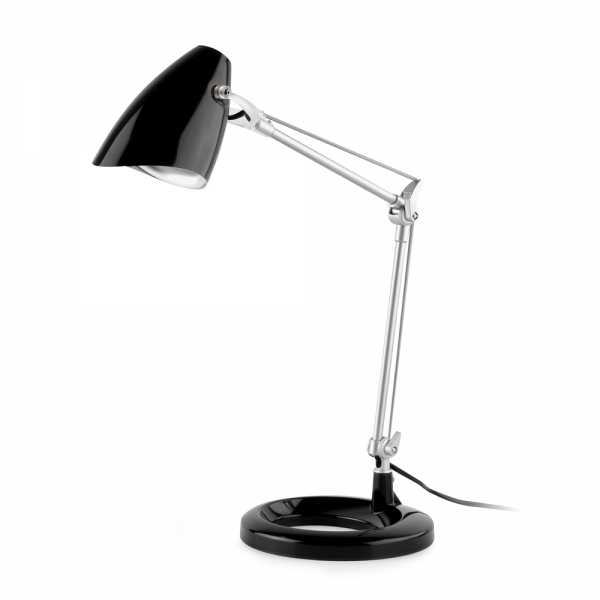 Color Study Lamp Black With 11w Energy Saving Lamp