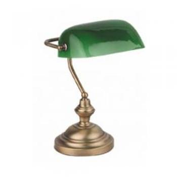 Lámpara de estudio estilo clásico y color bronce con bombilla Eco 42W