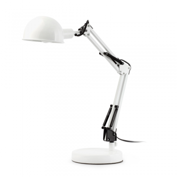 Lámpara flexo vintage en color blanca con portalámpara E27