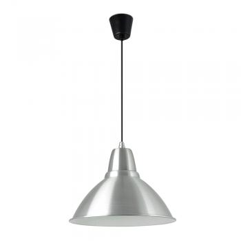 luminaria colgante estilo moderno en aluminio con bombilla
