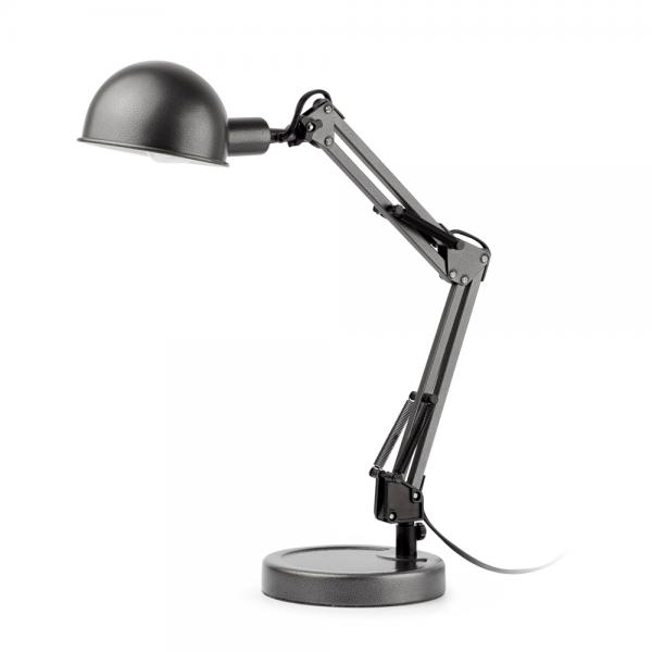 vintage gooseneck lamp in gray with eco bulb 42w. Black Bedroom Furniture Sets. Home Design Ideas