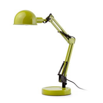 Vintage gooseneck lamp in green with Eco Bulb 42W
