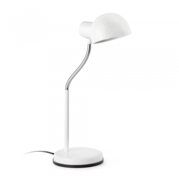Study lamp in white with Eco Bulb 42W