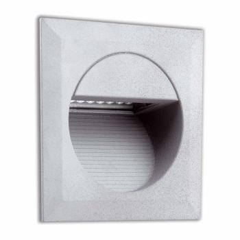 Empotrable cuadrado de señalización IP65 en gris con LED de 1,4W