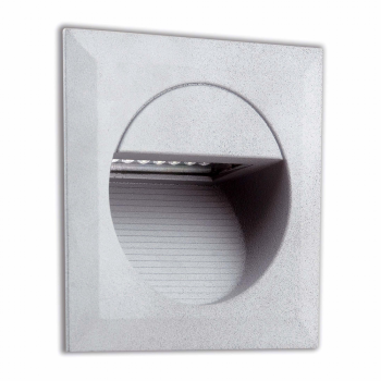Signaling Square Recessed IP65 LED in gray with 1.4 W