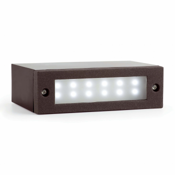 Empotrable de pared IP54 en gris oscuro y LED de 2W frío