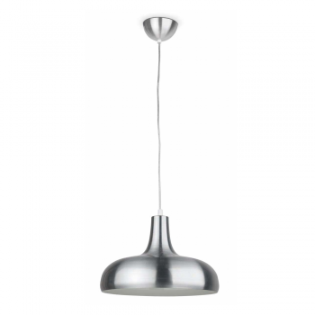 Modern pendant Light in aluminum with Eco 42W bulb