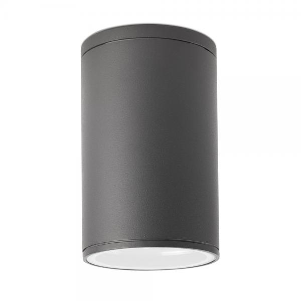 Luminaria de techo de exterior en color gris oscuro con for Exterior gris oscuro
