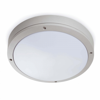 Outdoor waterproof ceiling in gray with a light bulb 42W Eco