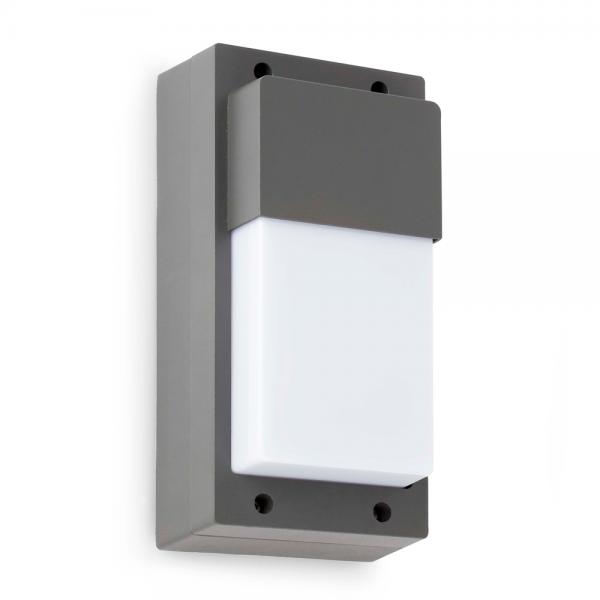 Aplique de exterior en gris oscuro con bombilla eco de 42w for Exterior gris oscuro