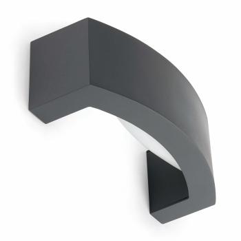 Aplique de pared de estilo moderno en gris con portalámpara E27