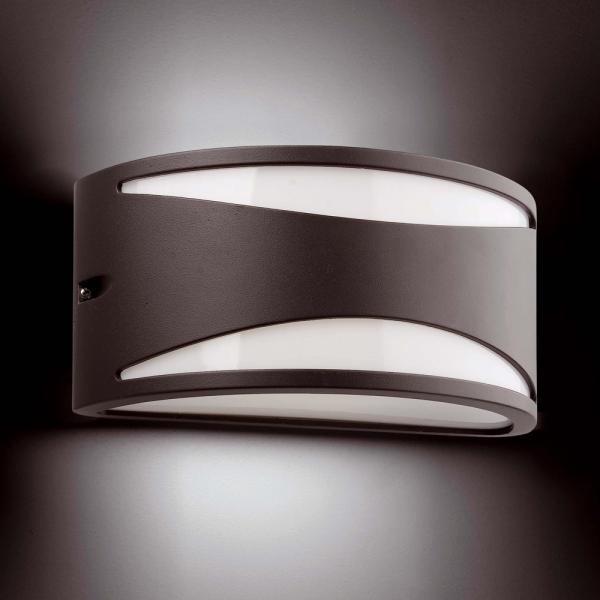 Aplique de pared para exterior en gris oscuro con bombilla - Lamparas de aplique para pared ...