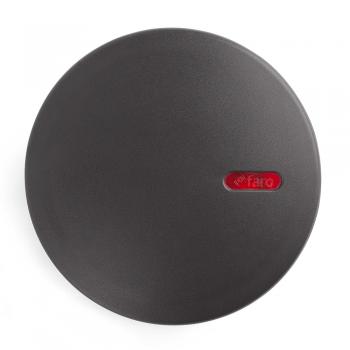 Aplique circular gris oscuro con stickers de colores y LED de 2W frío