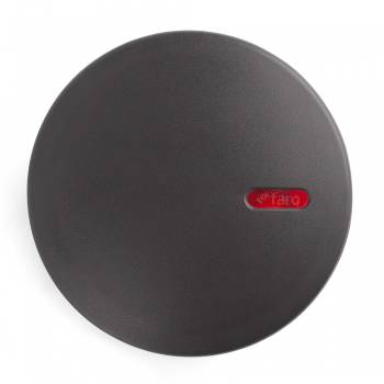 Lamp dark gray circular colored stickers and Cold 2W LED