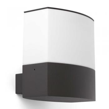 Aplique moderno en color gris oscuro con portalámpara E27
