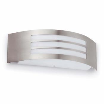 Aplique de pared estilo moderno en níquel mate con portalámpara E27